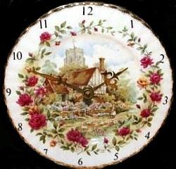 Royal Albert Servies Lavender Rose.Royal Albert Clock Plates Collector Plates Www