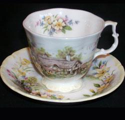 Royal Albert Servies Lavender Rose.Royal Albert Cottage Garden Year Series Collector Plates Www