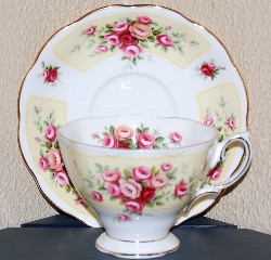Royal Albert Bone China patterns - cups and saucers, plate